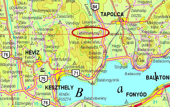 Magyarország Térkép Sümeg